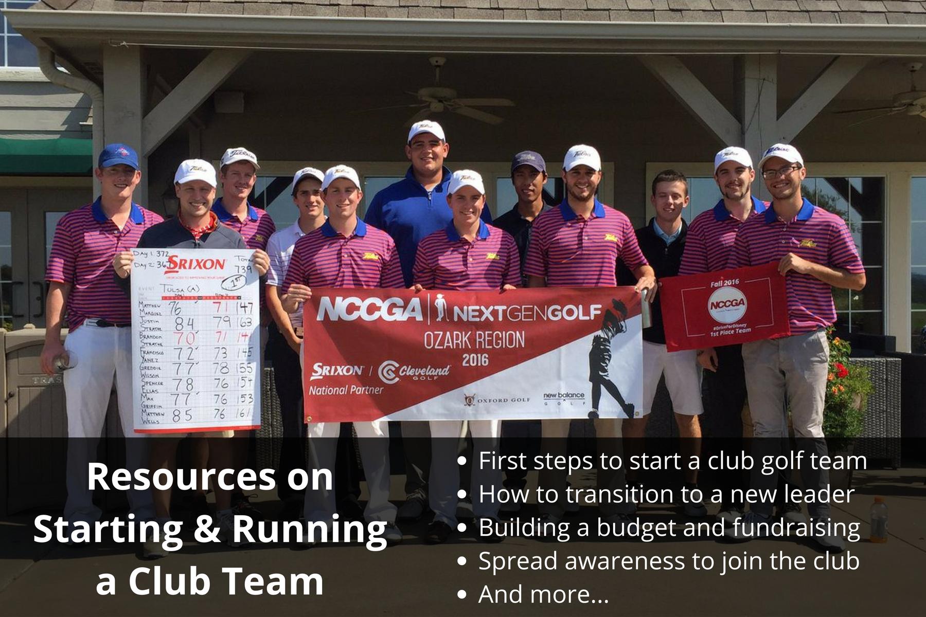 Club Golf Team Resources